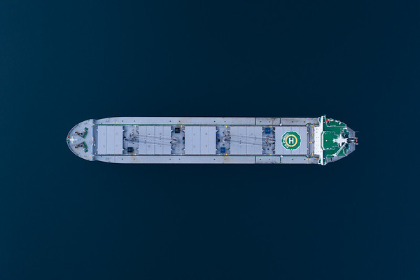 The bulk carrier IVS Phoenix aerial