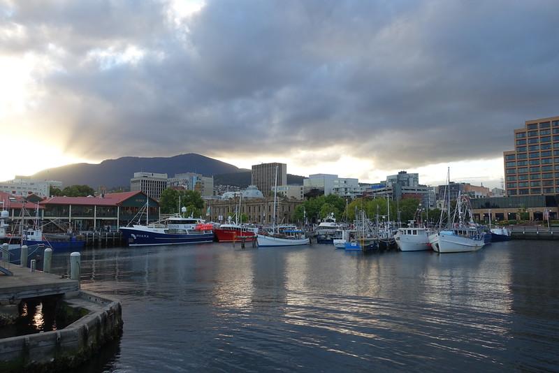 Mt. Wellington from Hobart wharf