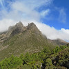 Tasmania's highest mountain Mt. Ossa - highpoint is behind and right