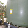 Tank for drinking water and washing dishes (dump slosh down the pit under the grate)