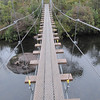 Suspension bridge over Narcissus River.... 15 minutes to go!