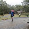 "Here comes Michael - he turned 50 2 days after the hike and wanted to walk the ""entire"" track."