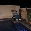 Linda on the terrace
