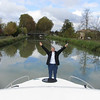 """Once Connie felt confident in her two new drivers, she """"floated"""" to other working areas... like being the stick turner on the bow of the boat."""