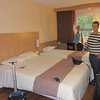 Our  room at the Ibis hotel in Montauban - perfect for our needs... easy access, in-hotel restaurant, clean, comfie!  YAY!