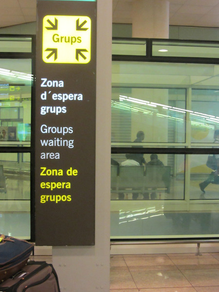 "The arrivals area is not all that big, and meeting people isn't a problem.  Airport had two ""group waiting areas"" at each end of the arrivals area... this one was across from the Tourist Information center."