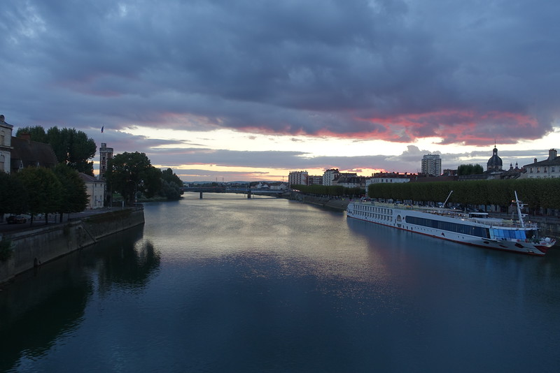 Chalon sur Saone sunset.