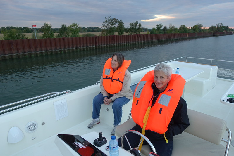 On the river, lifejackets are required when entering locks.  We had one lock to go through just before Seurre.