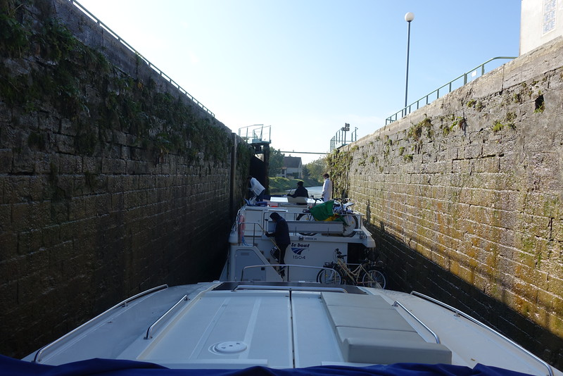 We befriended a group of Aussies in Chalone sur Saone.  We happened to be going down the Canal du Centre abouit the same time so we shared 12 canal locks with them.