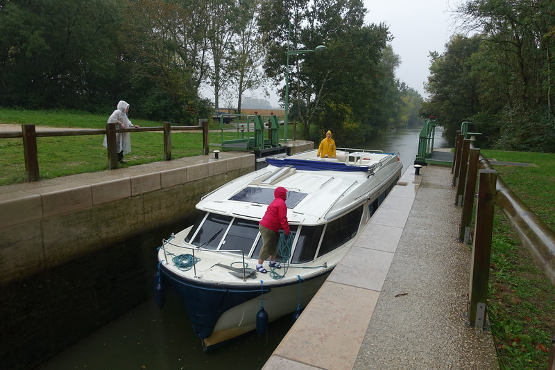 Once the boat is secure, Melissa and I will close the lock gates and sluice gates in the back