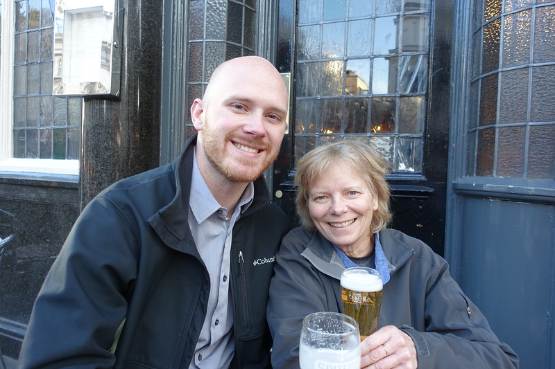 So fun catching up with Ben, an American colleague now living and working in London.