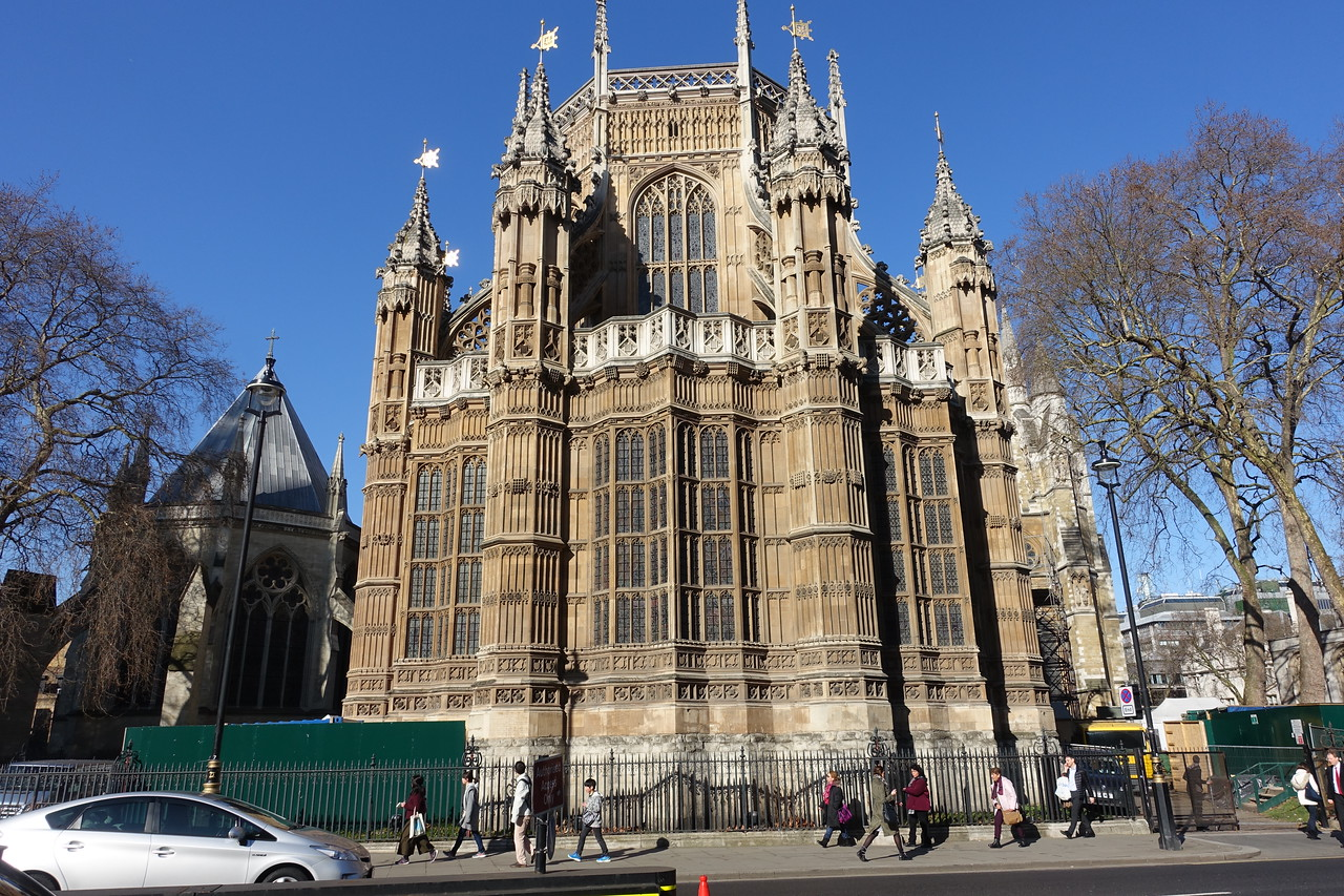 East side of Westminster Abbey