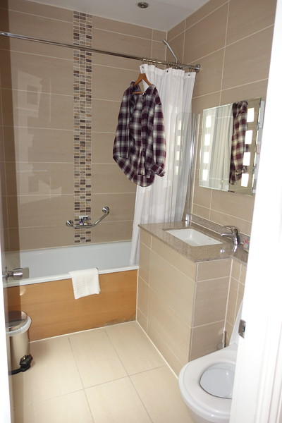 Our bathroom at the Mecure  Bloomsbury