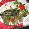 We were fine with this plate of fish/seaford for our seafood hot pot until the two catfish started flipping their tails at the table!