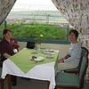 Linda and Pat at our daily breakfast table in the hotel restaurant.