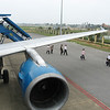 Deplaning Vietnam Airlines in Vinh.