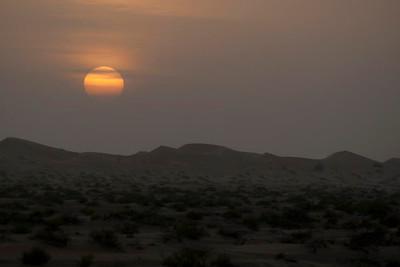 Sunset at Desert Camp
