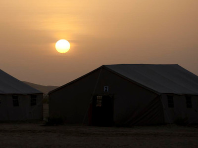 Sunset at Desert Camp