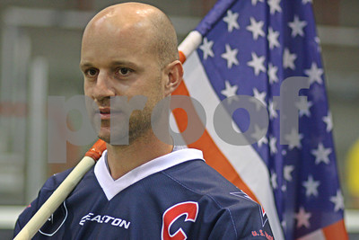 Chris Schiller - Team USA - LP-11-1767-15 -   I am fundraising to help with my expenses while I covered the World Indoor Lacrosse Championships in Prague from May 21 through May 28.  I am selling 2 framed photos that I created of Team USA Captain Chris Schiller holding the American Flag during the Opening Ceremonies of the Tournament.  I am requesting a payment of $80 (includes $15 shipping) for an 11x14, and $125 (includes $25 shipping) for a 16x20.  All framing and matting will be done personally by me.  A portion of the price will be donated back to TEAM USA to help them cover their expenses to get the team to and from Prague.   Thank you so much for helping me and more importantly TEAM USA get to Prague for the World Championships!!!  Larry       Team USA photos made in Prague at World Championships 	11x14 framed photo $80.00 	16x20 framed photo $125.00