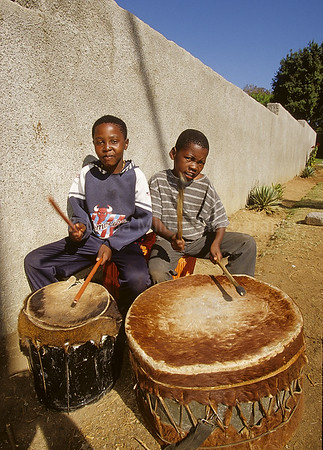Boys Drumming, Soweto, Johannesburg, South Africa, Africa