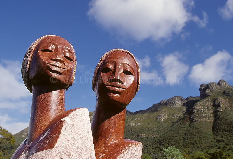 """Growing Up Together"" Statue, Cape Town, South Africa, Africa"