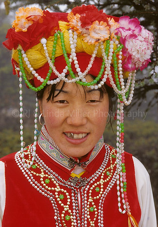 Naxi Woman in Costume, Yulong Stone Mountain, Lijiang, China, Asia, Asian
