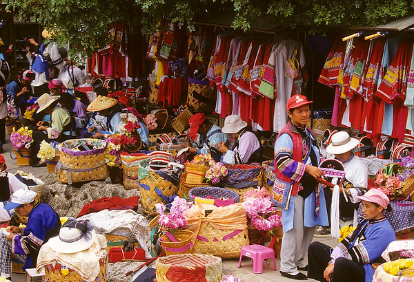 Clothing Vendors, Stone Forest, Kunming, Yunnan Province, China, Asia, Asian