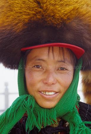 Naxi Woman in Costume, Yulong Stone Mountain, Lijiang, China, Asia, Asian