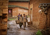 Men Carrying Baskets, Yi-Seven Star Village, Yunnan Province, China, Asia, Asian