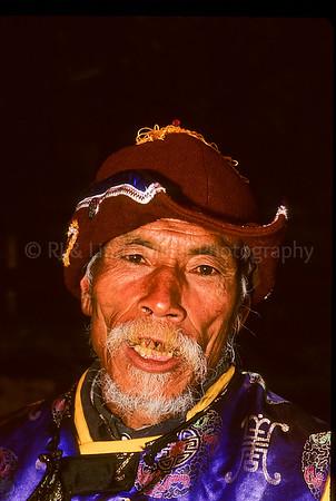 Old Man Musicians, Old Naxi Town of Daylan, Lijiang, China, Asia, Asian