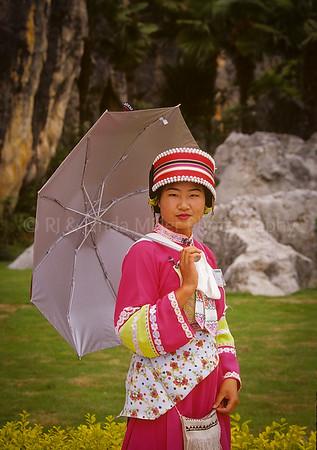 Beautiful Woman, Stone Forest, Kunming, Yunnan Province, China, Asia, Asian