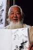 Old Man, Finger Painter, Dali,China, Asia, Asian