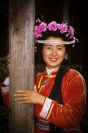 Nazi Woman, Jade Top Temple, Lijiang, Yunnan Province, China, Asia, Asian