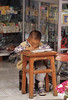 Boy Sitting at Desk, Xizhou Bai Village, Dali, China, Asia, Asian