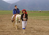 Linda Riding Horse, Girl Leading, Zhongdian, Tibetan Plateau, Tibetan Horse Village, China, Asia, Asian