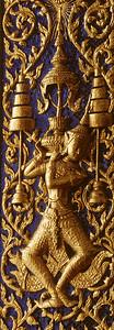 Shutter Detail, Wat Mahaprutharam, Thailand, Southeast Asia,