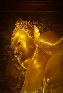 Reclining Buddha Statue, Wat Pho, Bangkok, Thailand, Southeast Asia,