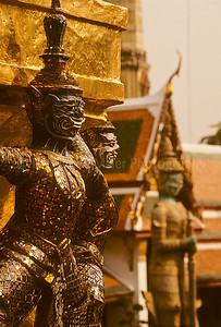 Demon Temple Guard, Temple of the Emerald Buddha, Bangkok, Thailand, Southeast Asia,