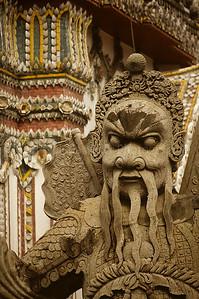 Warrior Statue, Wat Pho, Temple of the Reclining Buddha, Bangkok, Thailand, Southeast Asia,