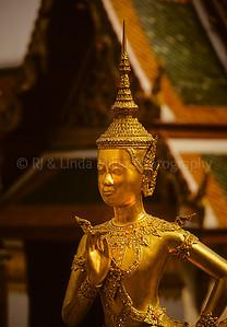 Bird Maiden, Temple of the Emerald Buddha, Bangkok, Thailand, Southeast Asia,