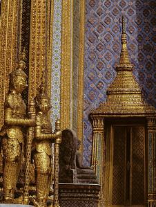 Temple of the Emerald Buddha, Bangkok, Thailand, Southeast Asia,
