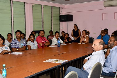 Medical students attending Dr. Julia's talk on hemophilia