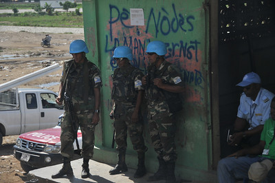 UN Peacekeepers at the Haiti border