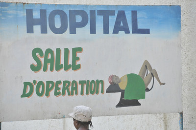 Hospitals often use visual images as there is a low literacy rate in Haiti