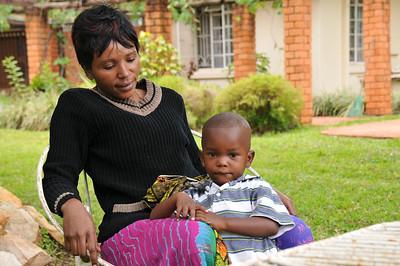 ZAMBIA 2012 010 Mom & son with hemophilia