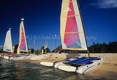 Catamarans on Shore of Cozumel, Mexico