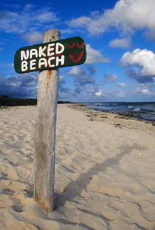 Naked Beach Sign, Cozumel Eastern Shore, Cozumel, Mexico
