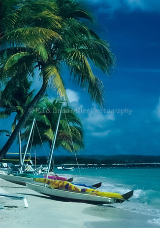 Sandals Sailboats on Beach, Jamaica, Carribean