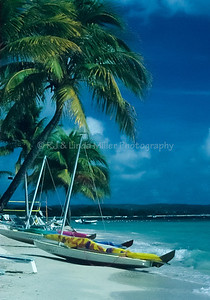Sandals Sailboats on Beach, Jamaica, Carribean
