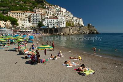 Amalfi Beach, Amalfi, Amalfi Coast, Italy, Europe